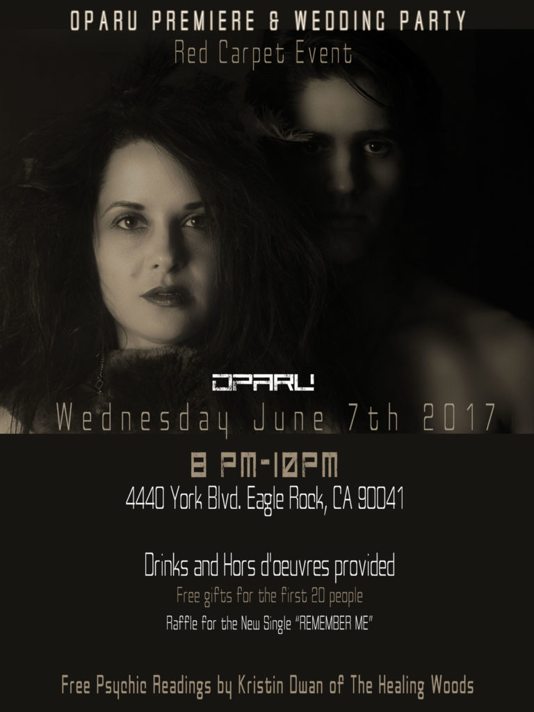 Oparu Launch party flyer